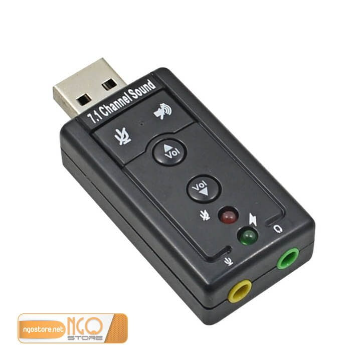Sound card USB 3D 7.1 2 cổng
