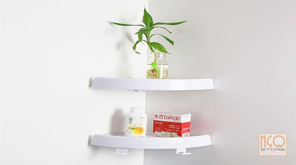 kệ góc nhà tắm snap up shelf