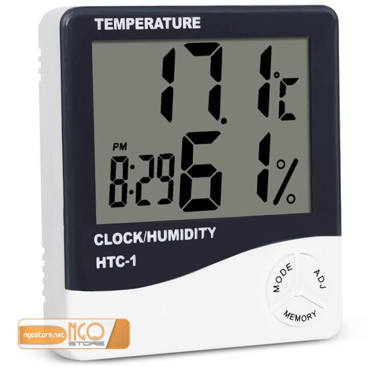 đồng hồ đo nhiệt độ, độ ẩm, báo thức htc-01