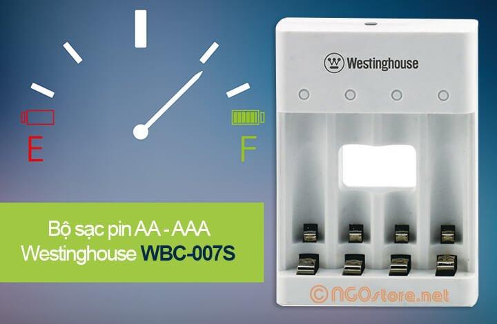 sạc pin aa aaa westinghouse wbc-007s